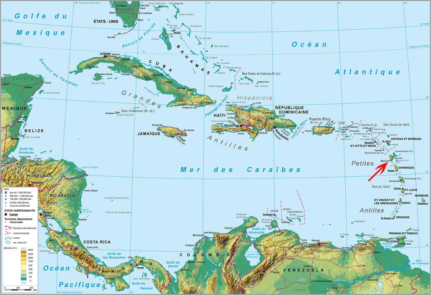 guadeloupe-carte-du-monde - Photo