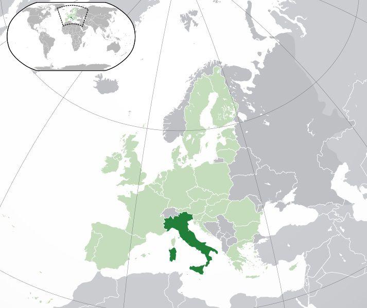 Où se trouve l'Italie sur une carte ?