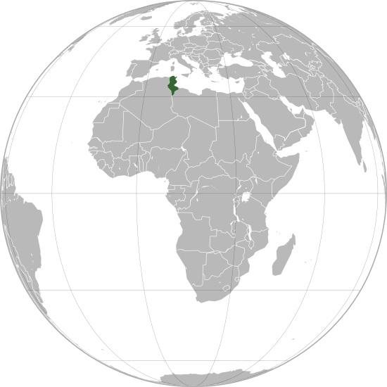 Où se trouve la Tunisie sur une carte ?