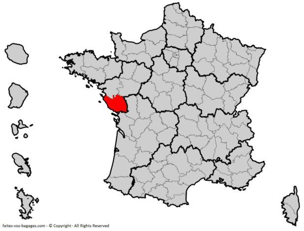 Où se trouve la Vendée sur une carte de la France