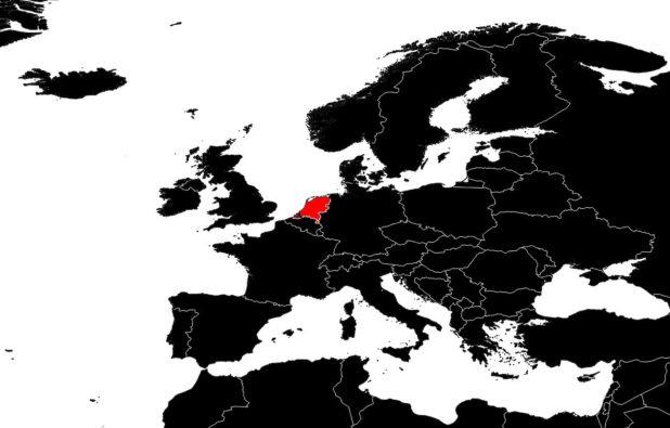 Pays-Bas sur une carte d'Europe