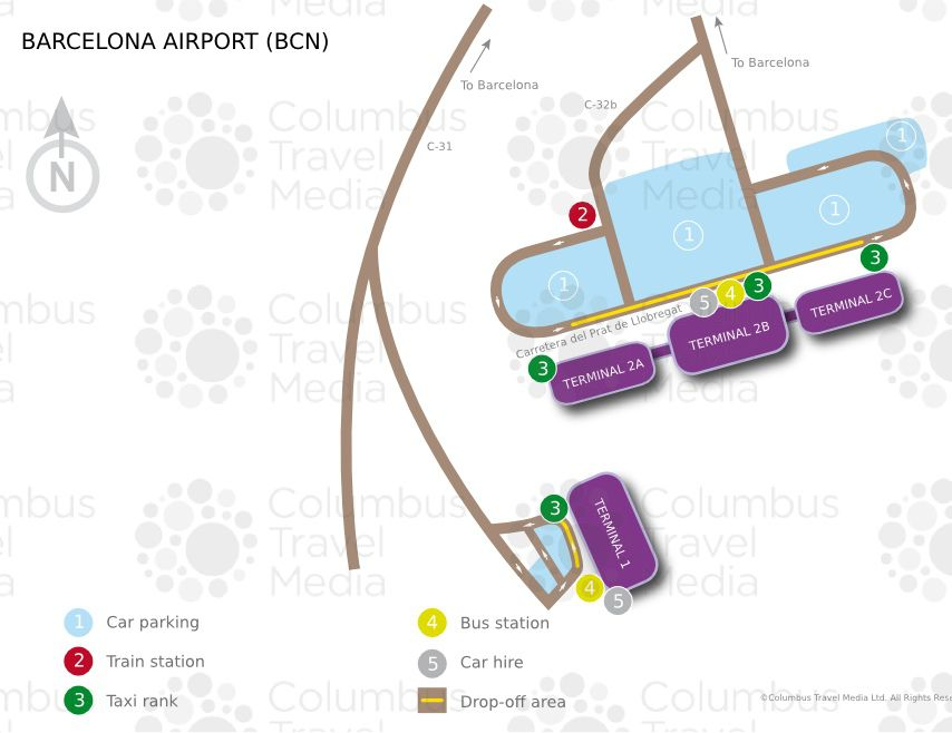 Plan de l'aéroport de Barcelone