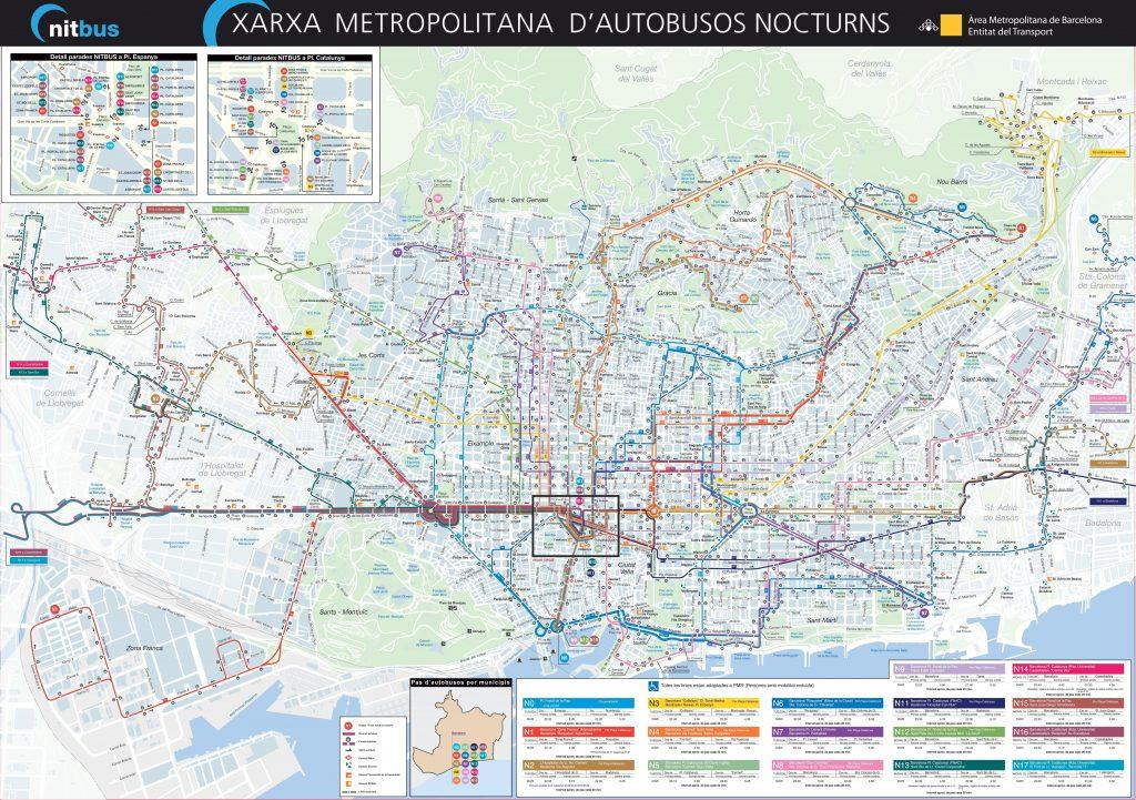 Plan du bus de Barcelone