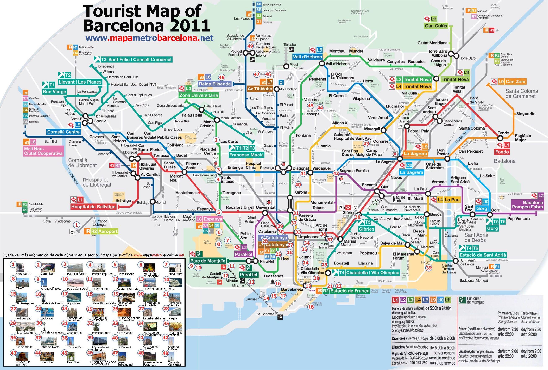 Plan du métro de Barcelone