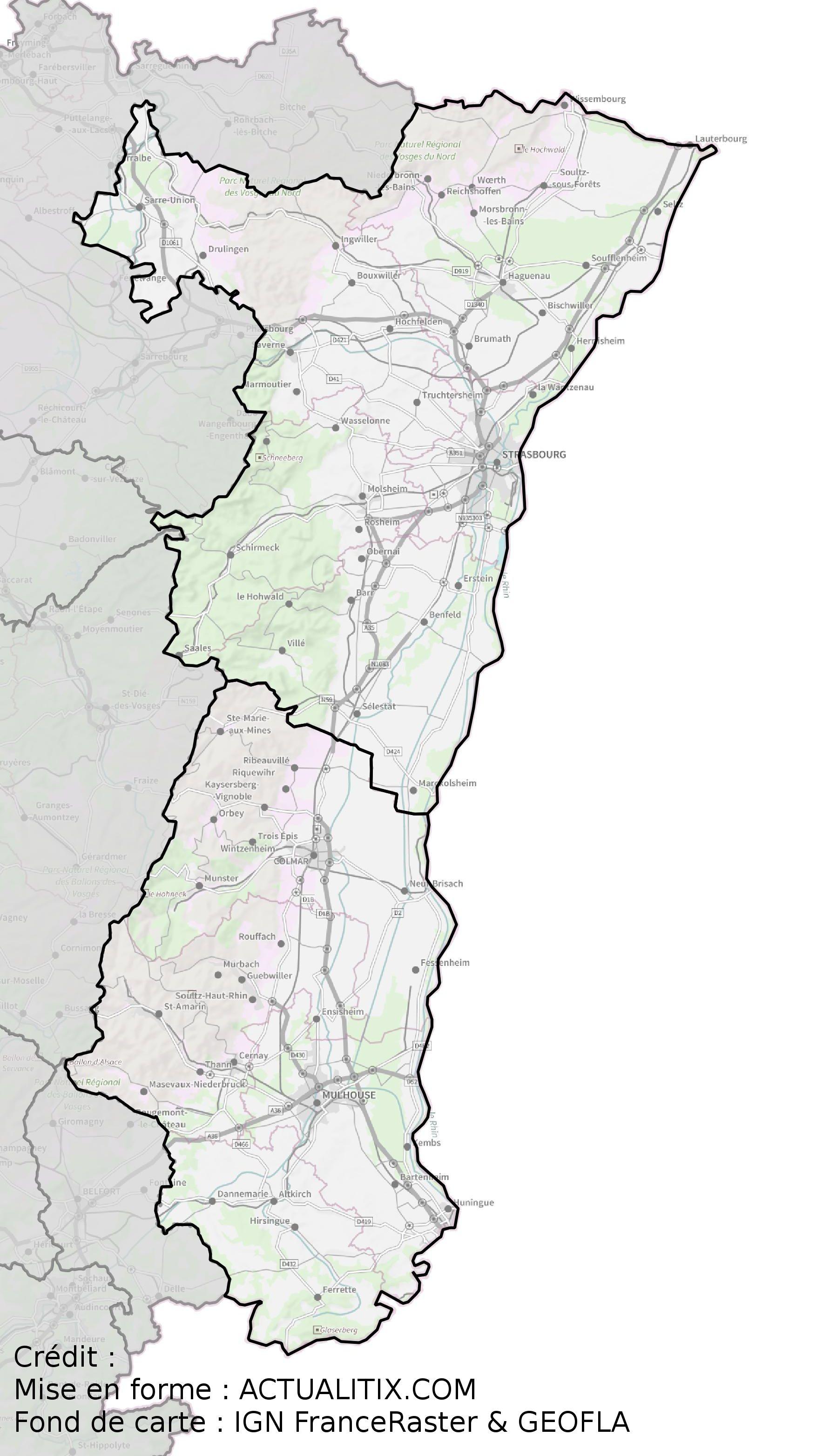 Carte De L Alsace Des Cartes Sur Cette Region De L Est De La France