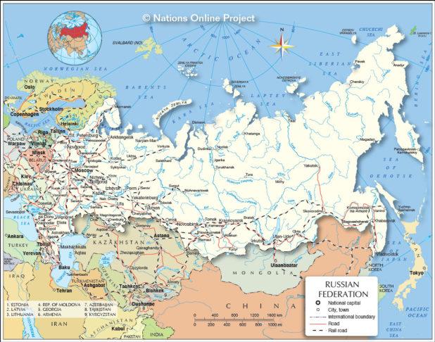 Russie carte