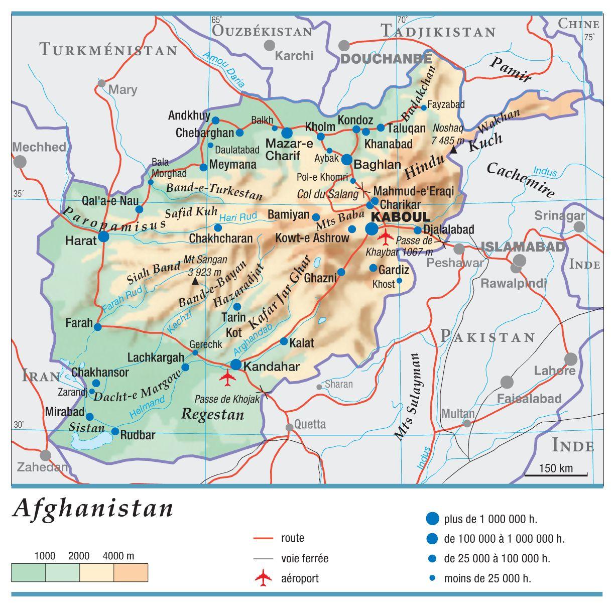 Afghanistan carte
