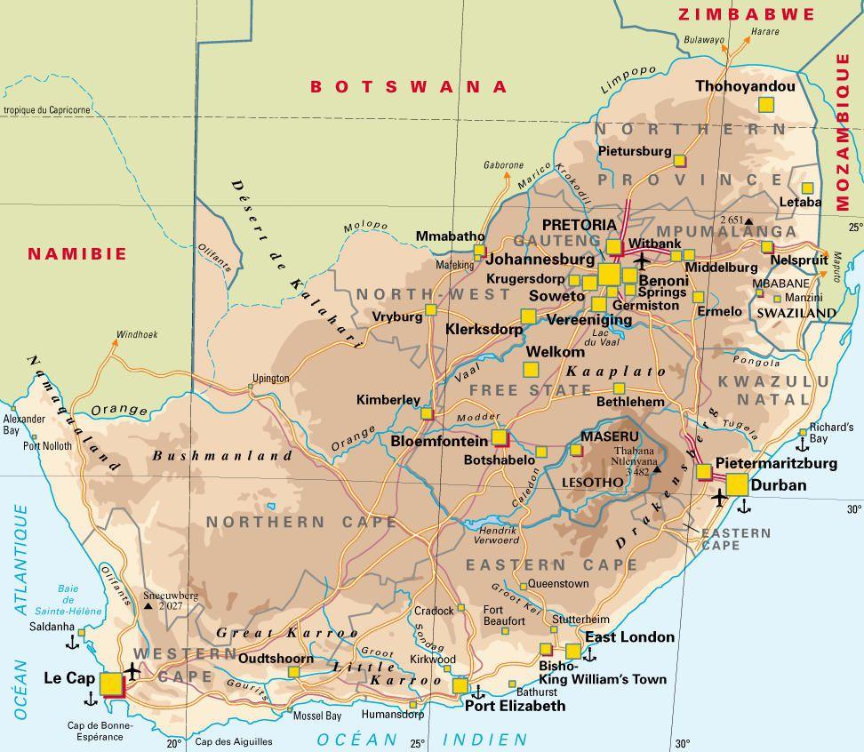 Grandes Villes Afrique Carte