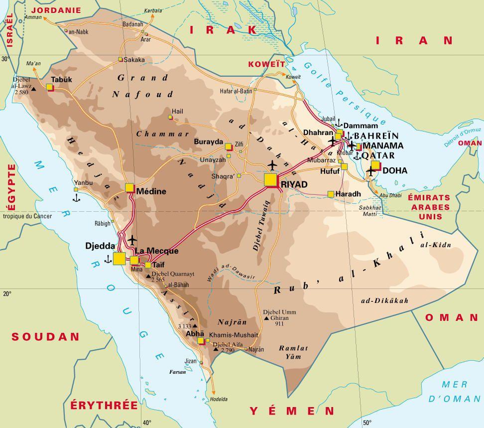 """Résultat de recherche d'images pour """"arabie saoudite carte"""""""