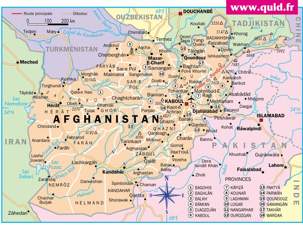 Autre carte de l'Afghanistan