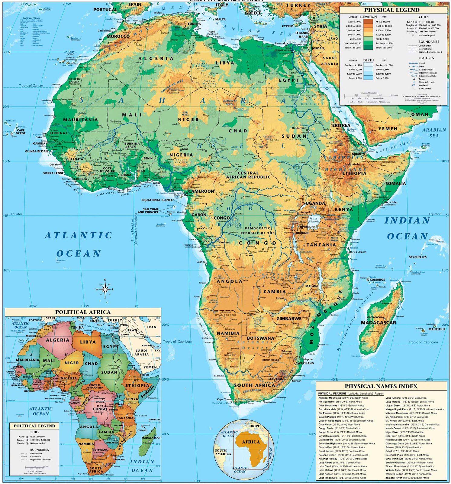 Autre carte de l'Afrique