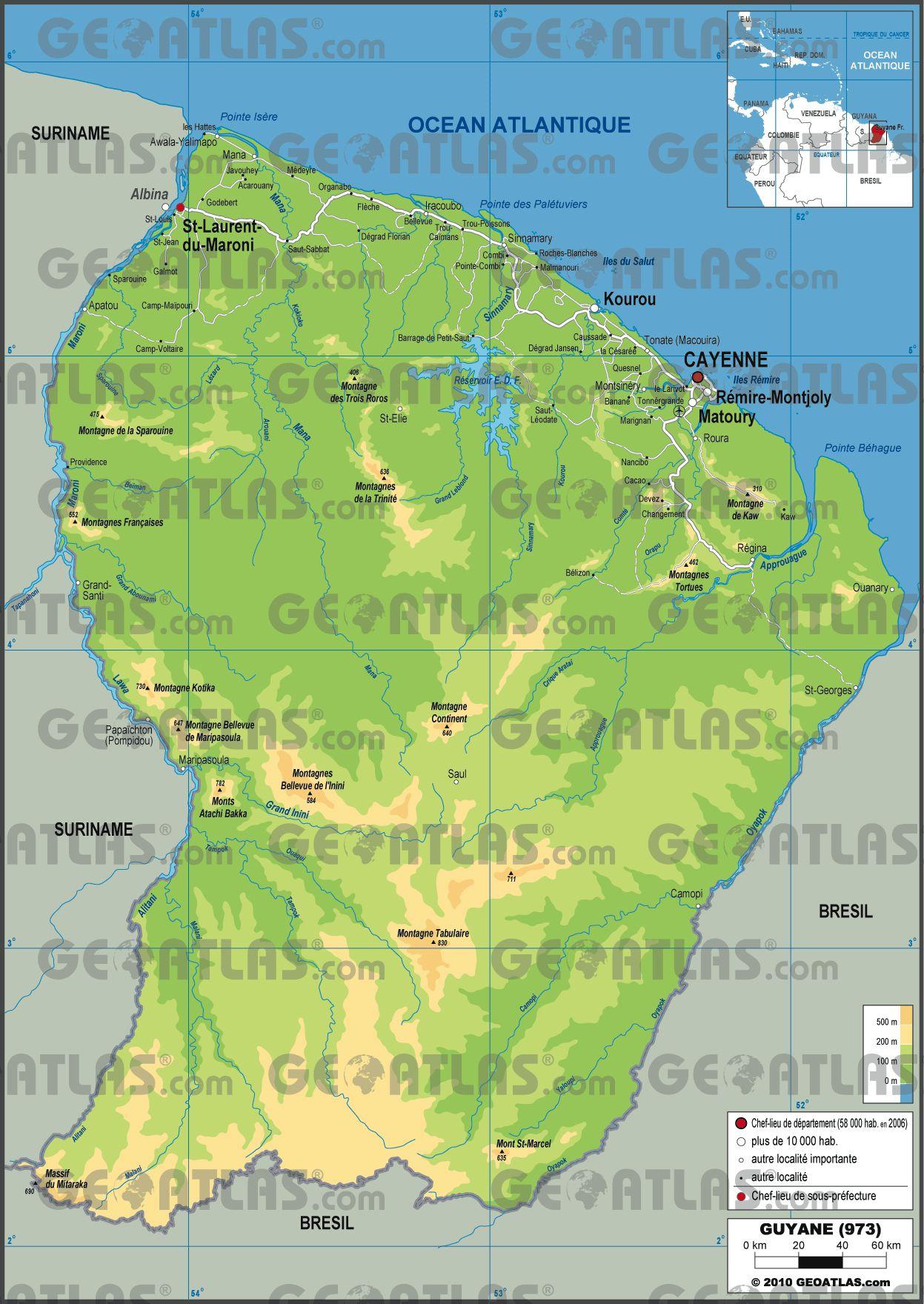 Autre carte de la Guyane
