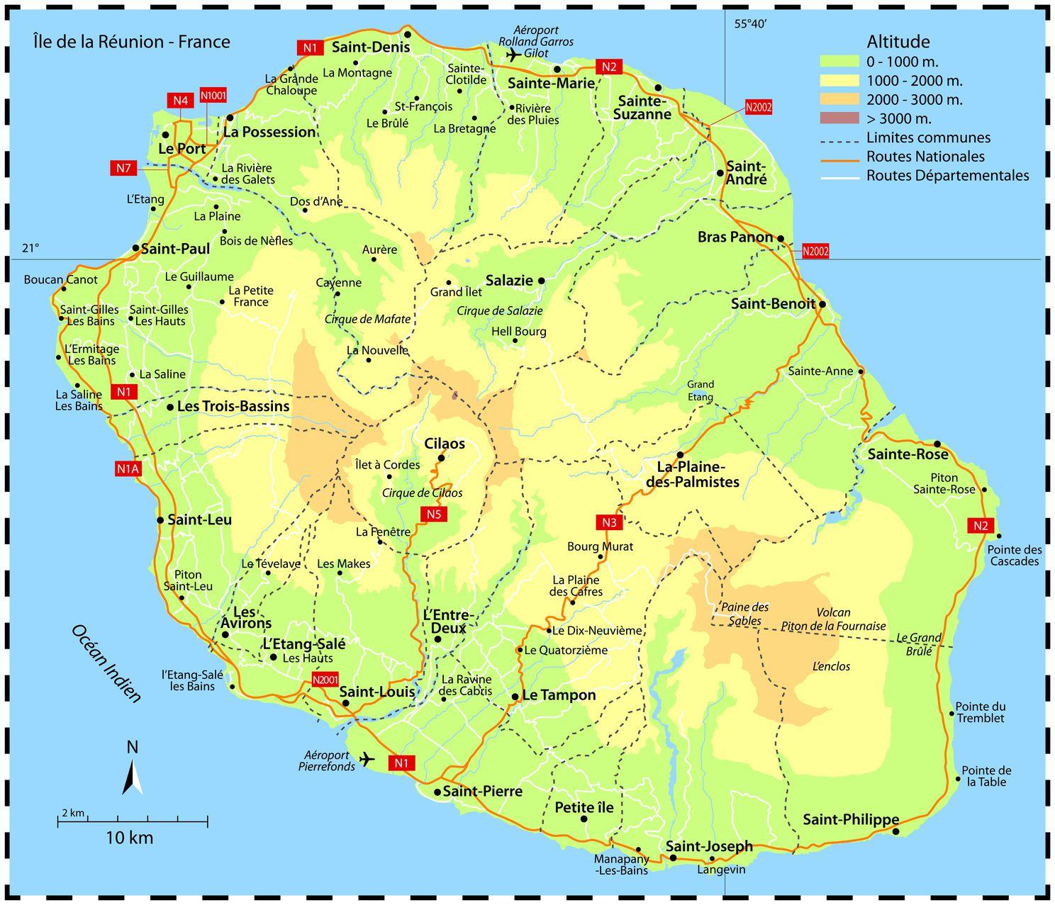 Autre carte de La Réunion