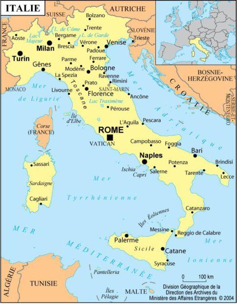 Autre carte de l'Italie