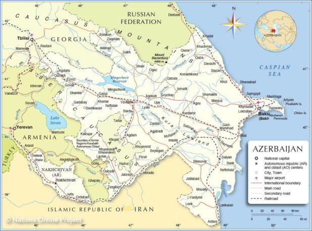 Azerbaidjan carte