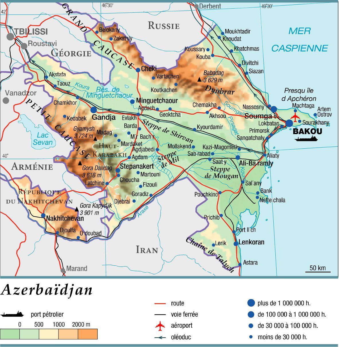 Azerbaïdjan carte