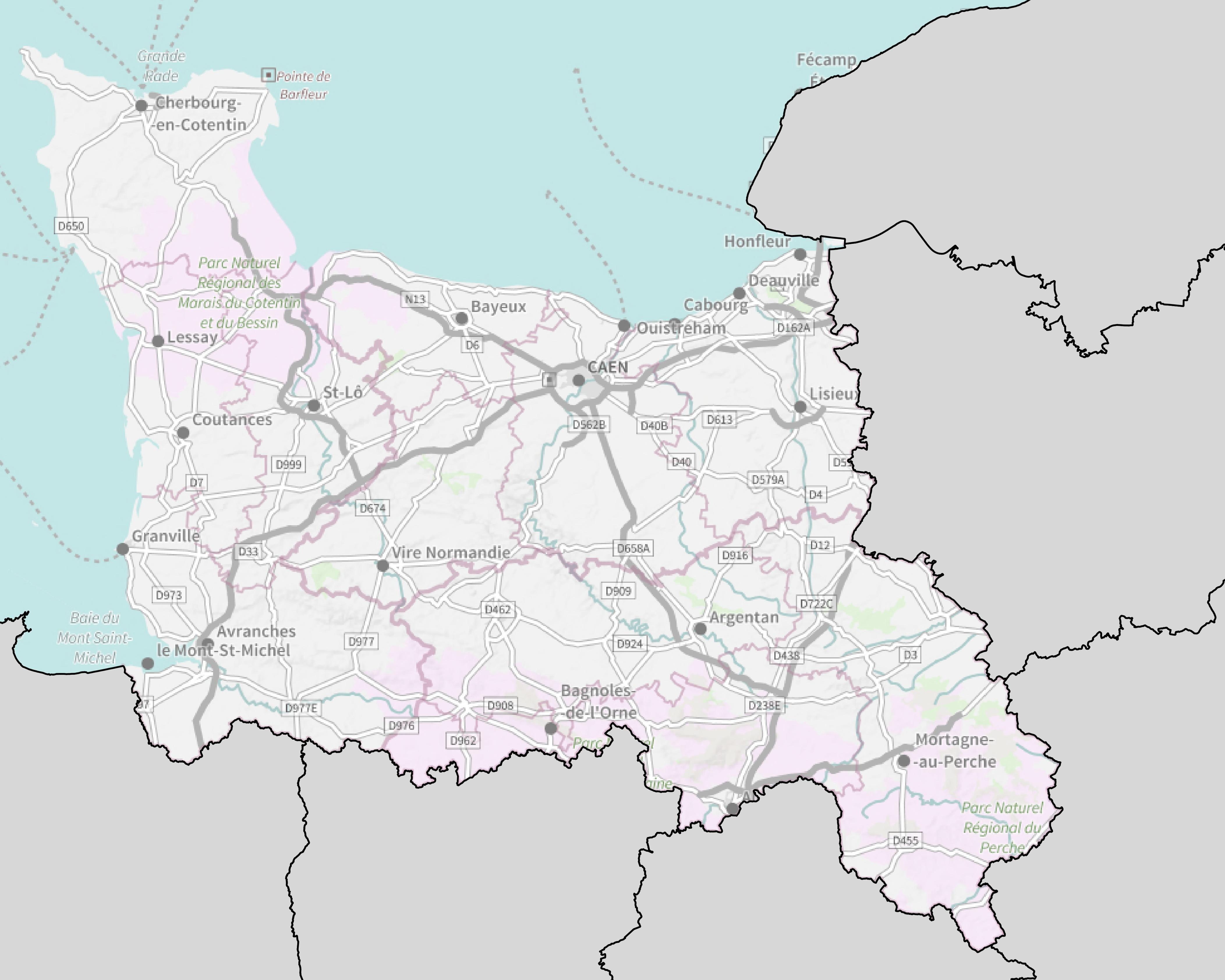 carte de la basse normandie Carte de la Basse Normandie   Plusieurs cartes de la région