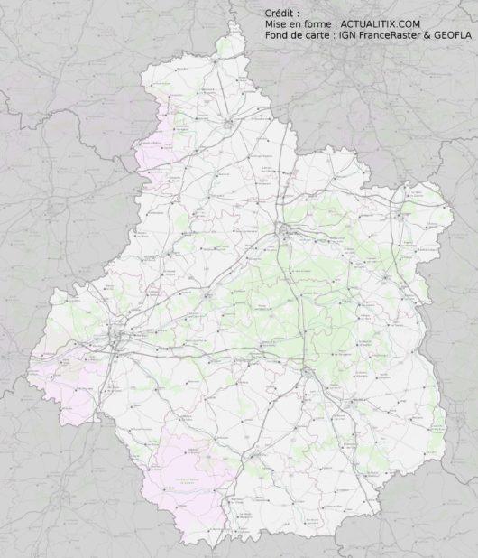 Carte du Centre-Val de Loire