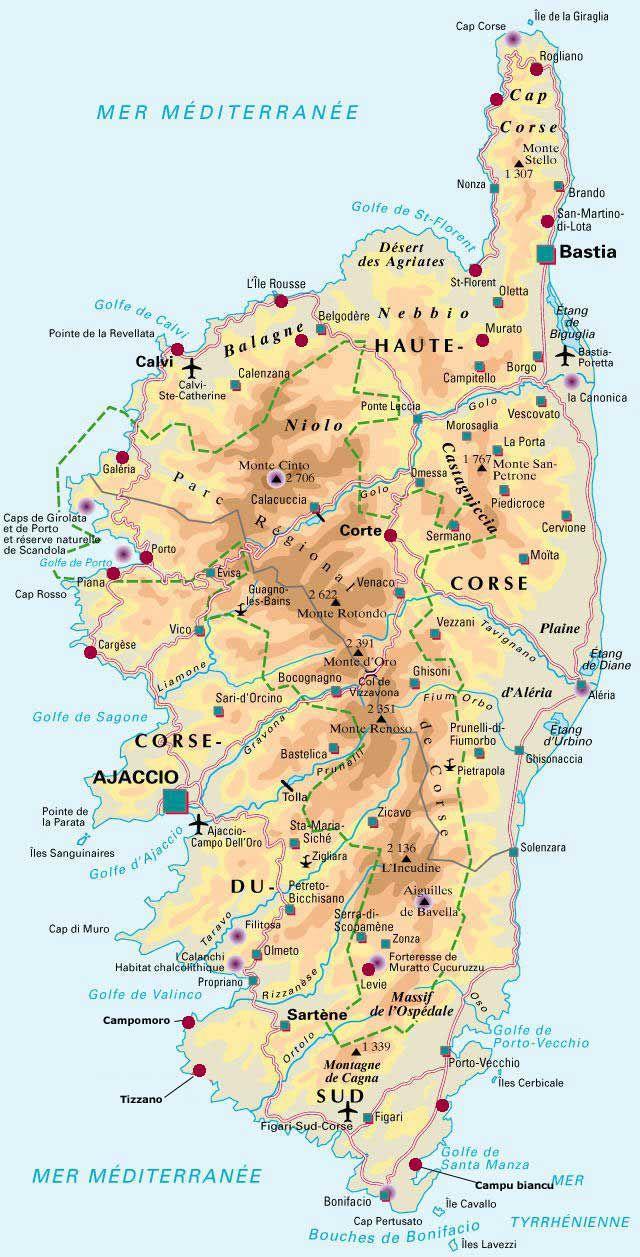 Carte de la Corse - Politique