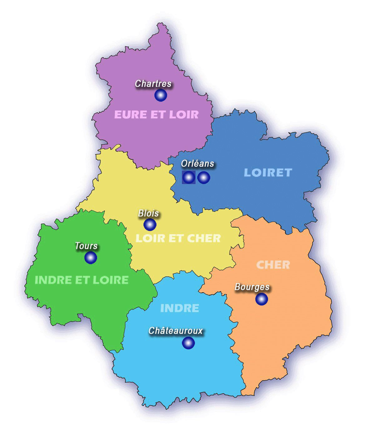 carte-du-centre-val-de-loire - Photo