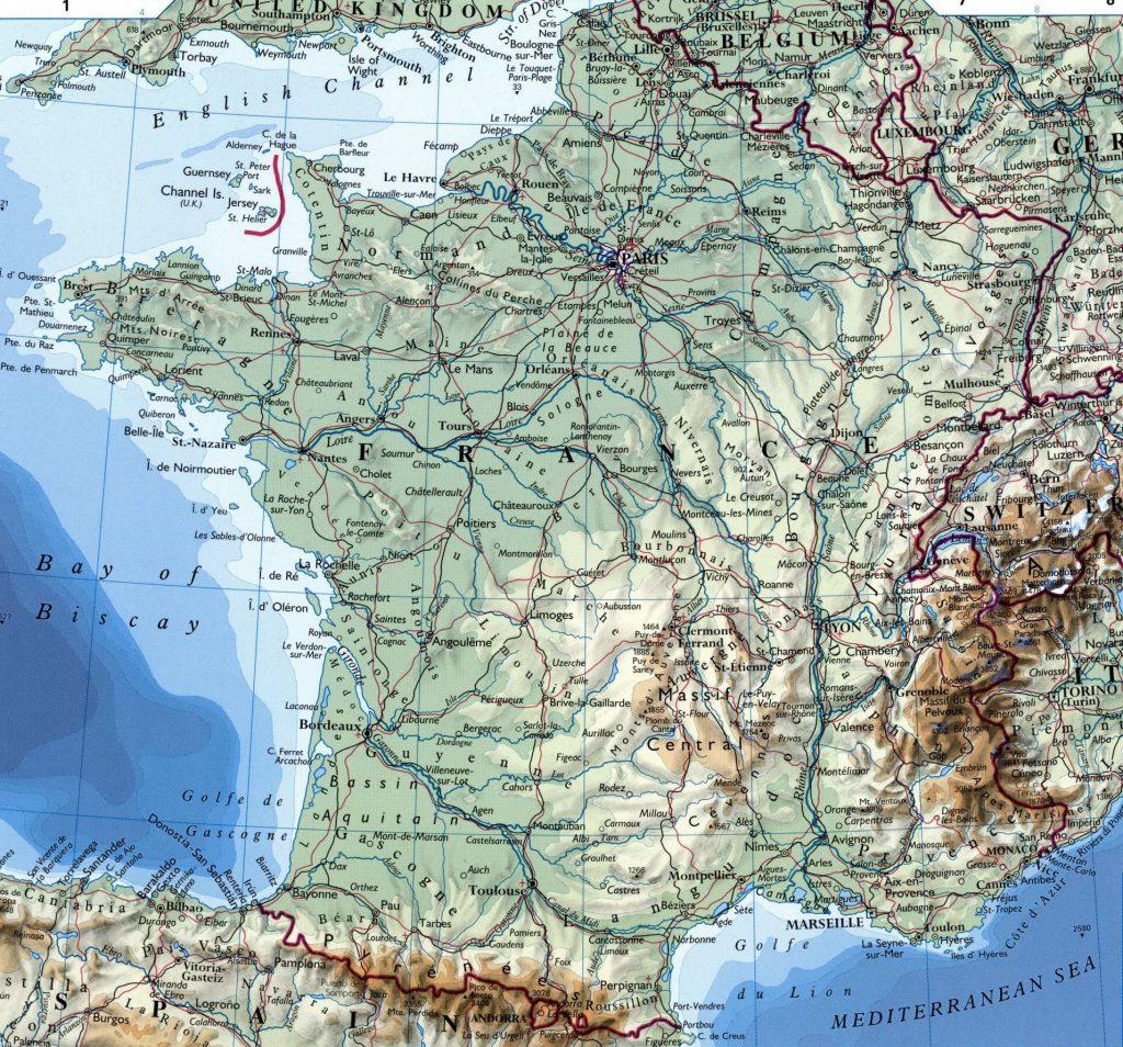 Carte de France - France carte des villes, régions, politique, routes...
