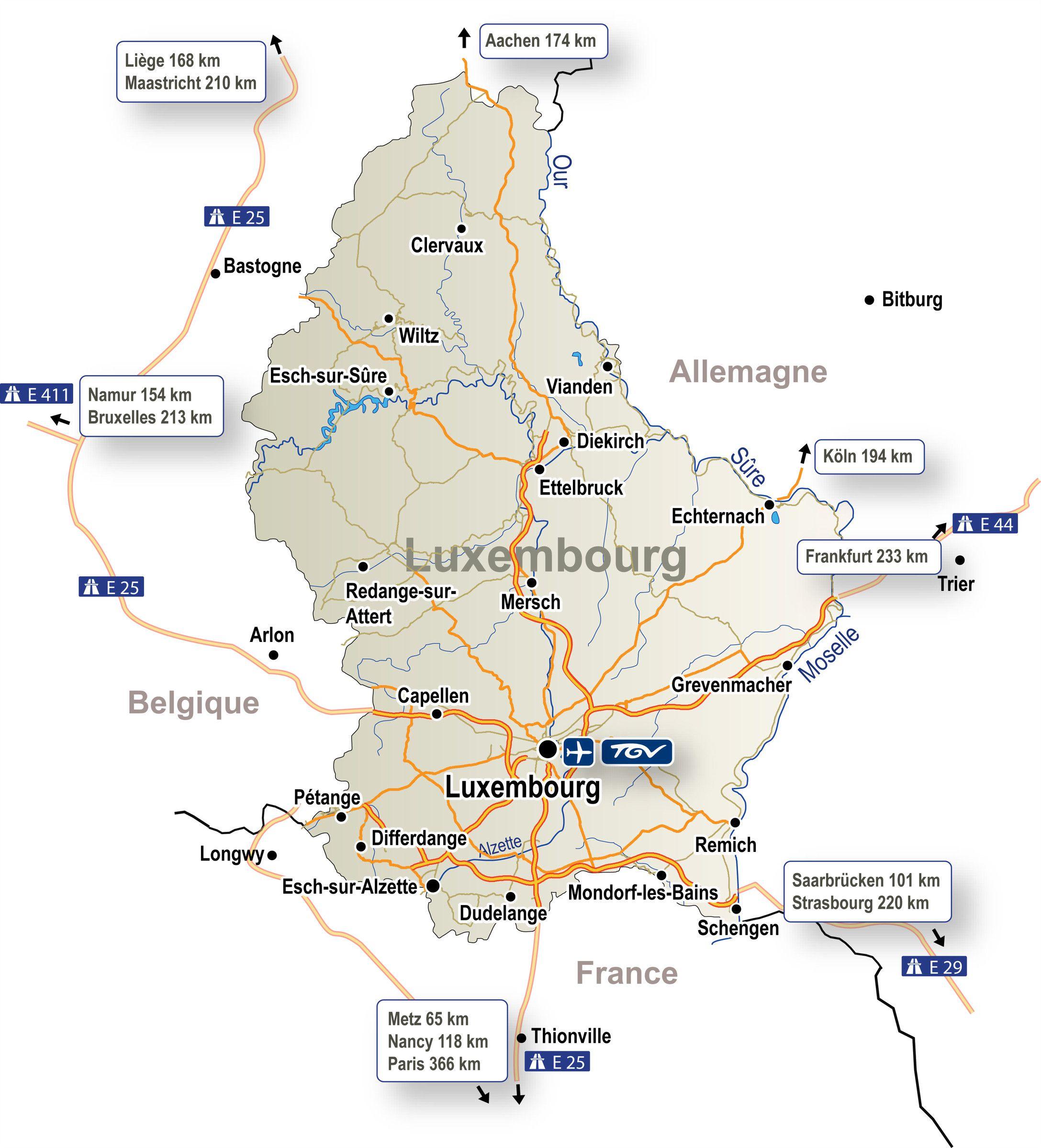 Autre carte du Luxembourg
