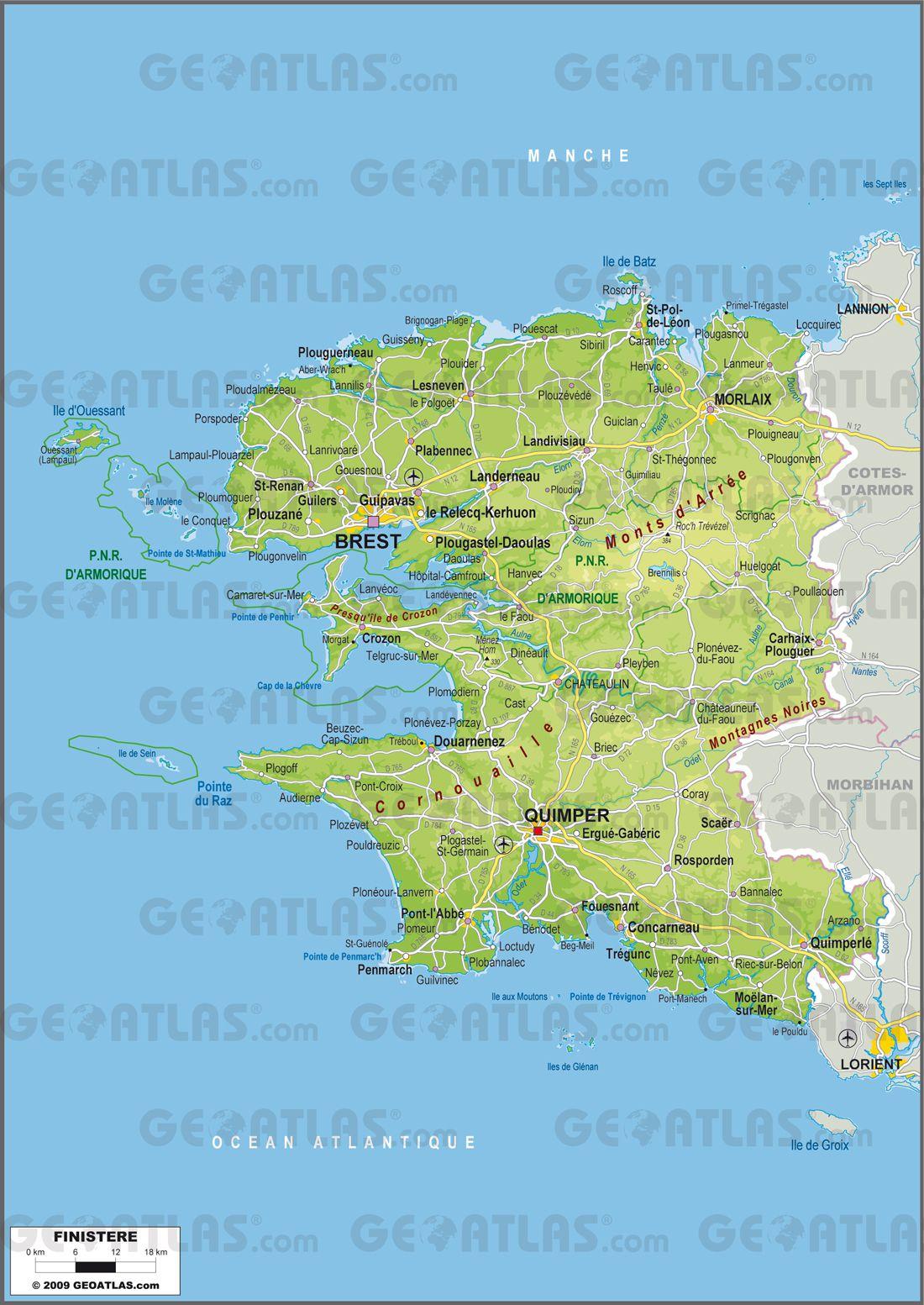 Carte du Finistère - Politique