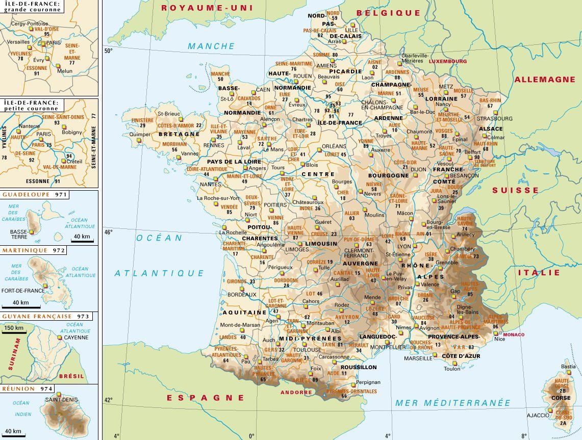 Carte de France - Politique
