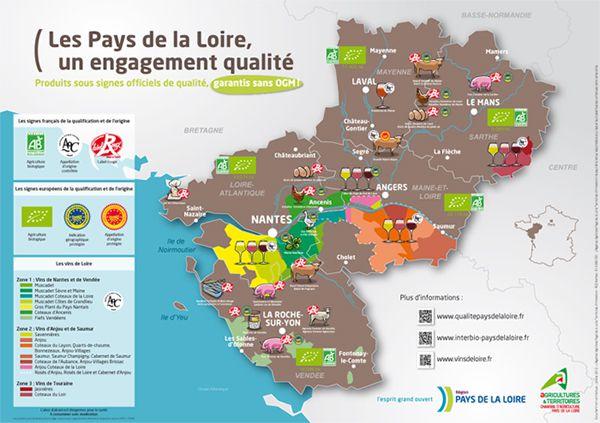 Carte de la gastronomie des Pays de la Loire