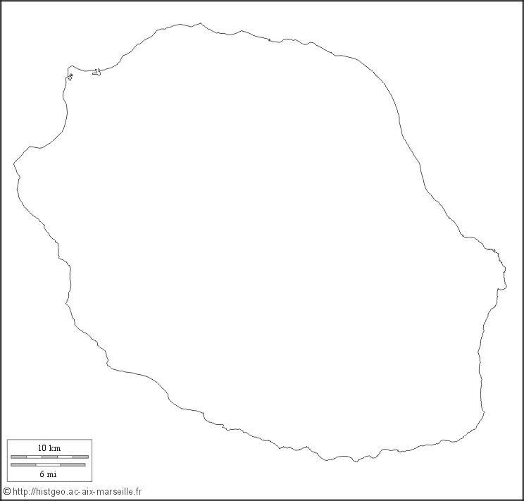 Carte La Réunion vierge