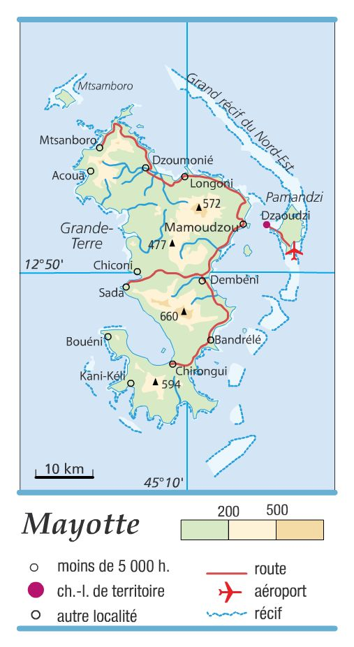 Carte de Mayotte - Politique