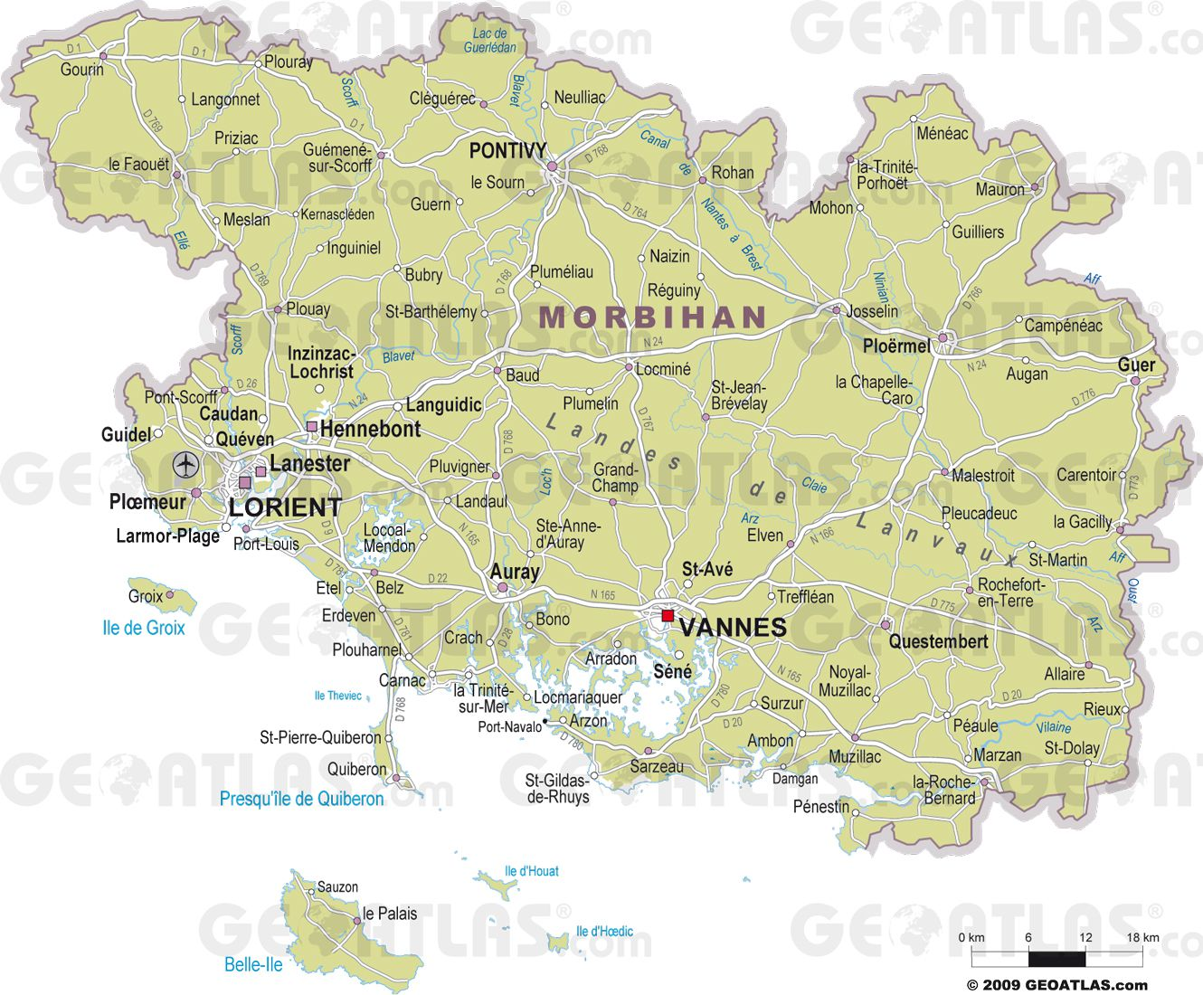 carte-du-morbihan - Photos