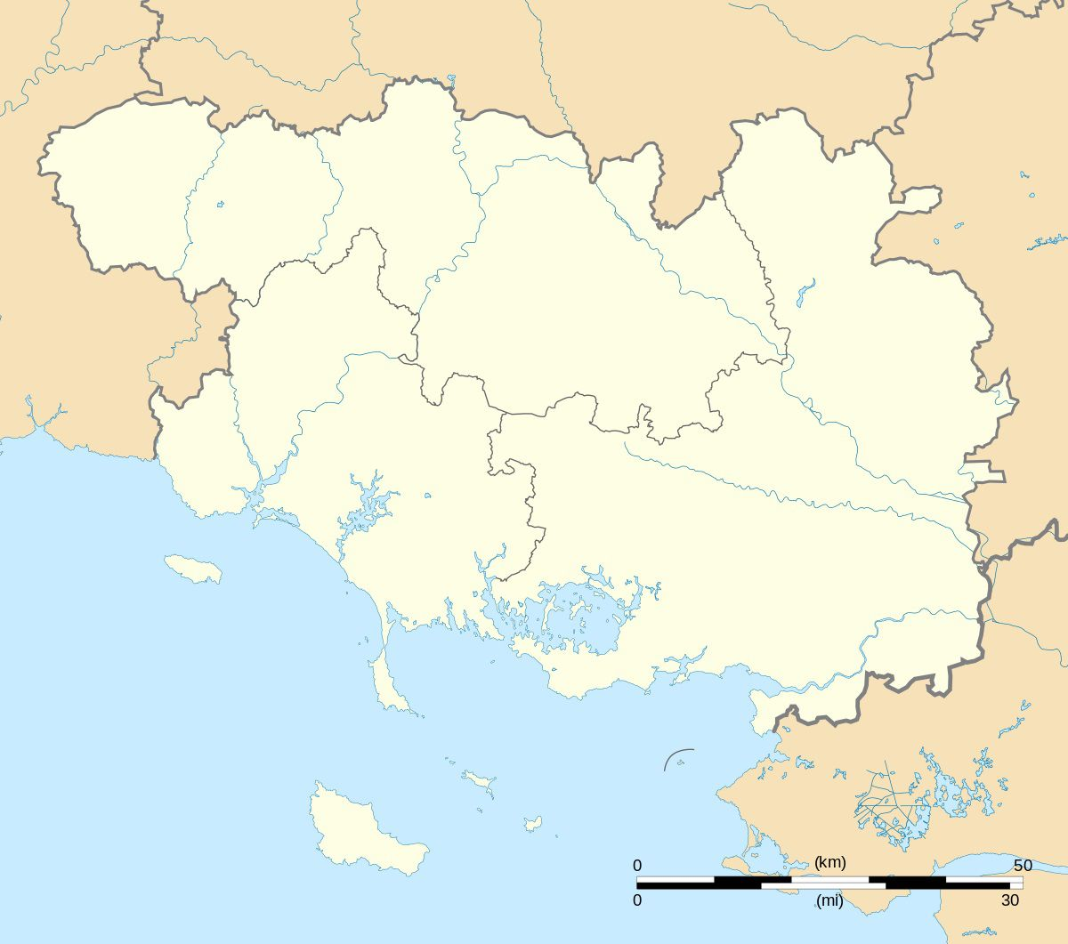 Carte du Morbihan vierge