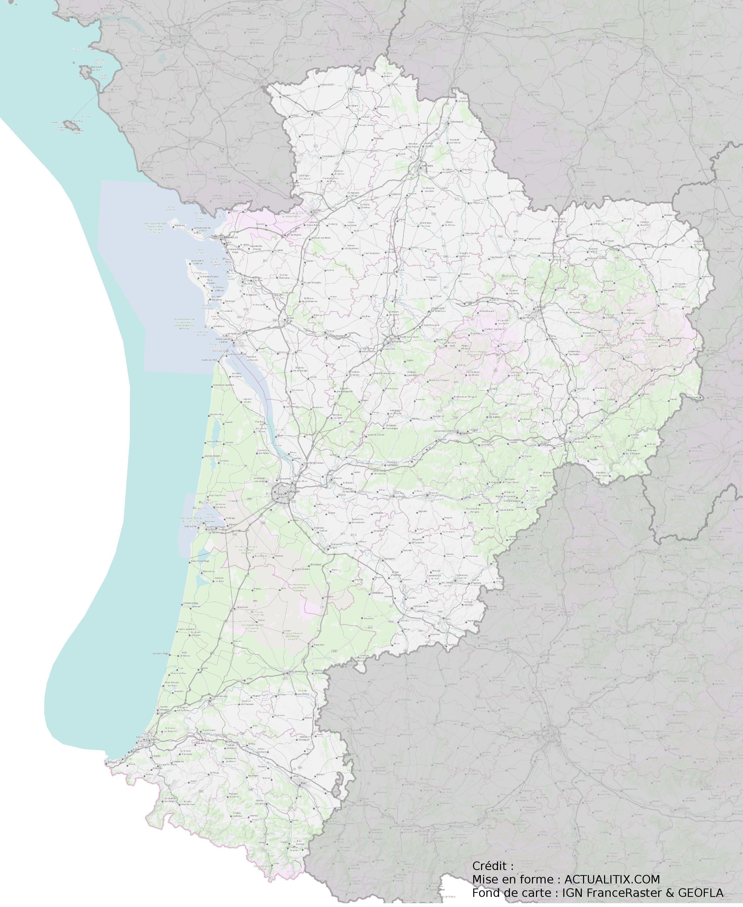 carte de nouvelle aquitaine