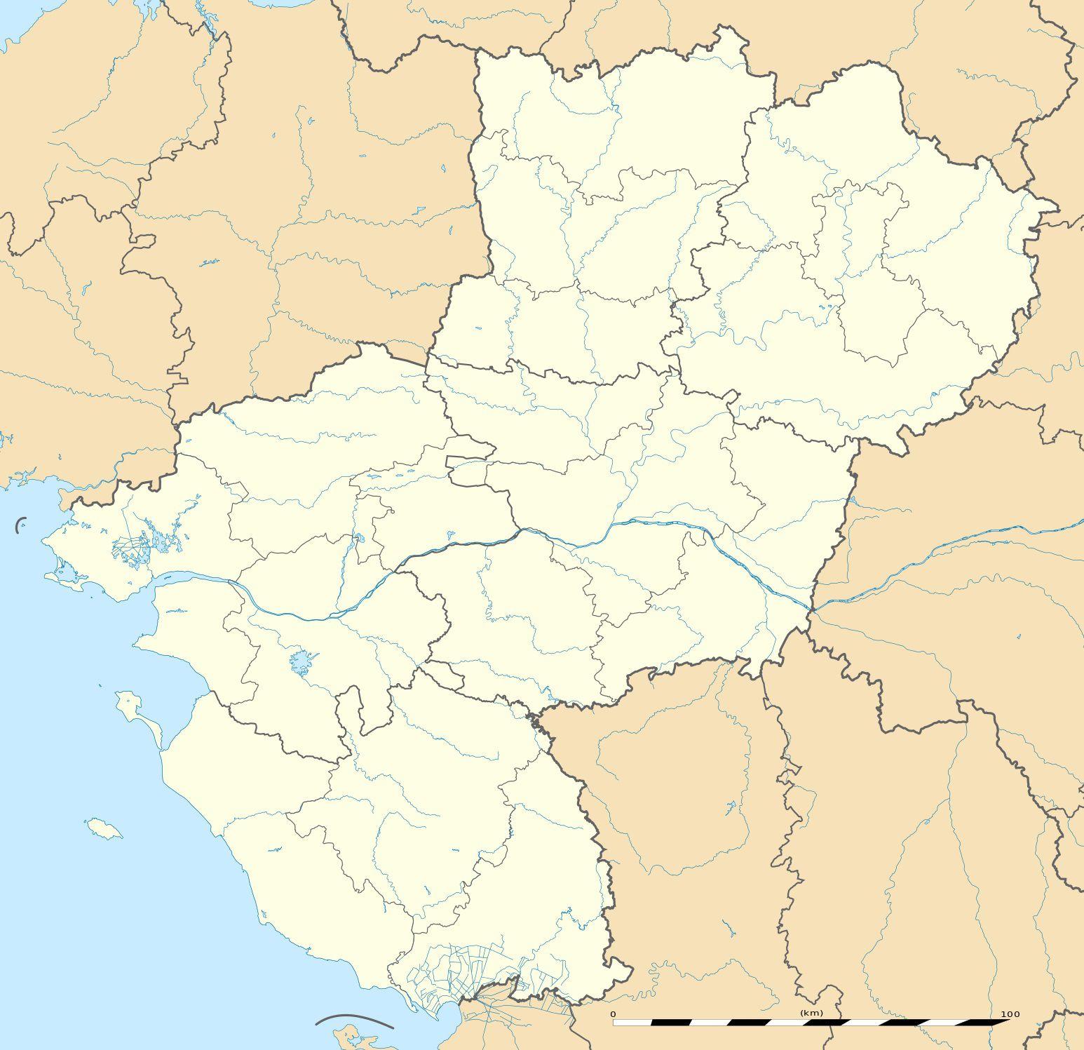 Carte des Pays de la Loire vierge