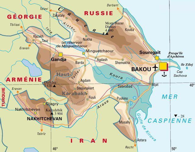 Carte Azerbaïdjan - Politique