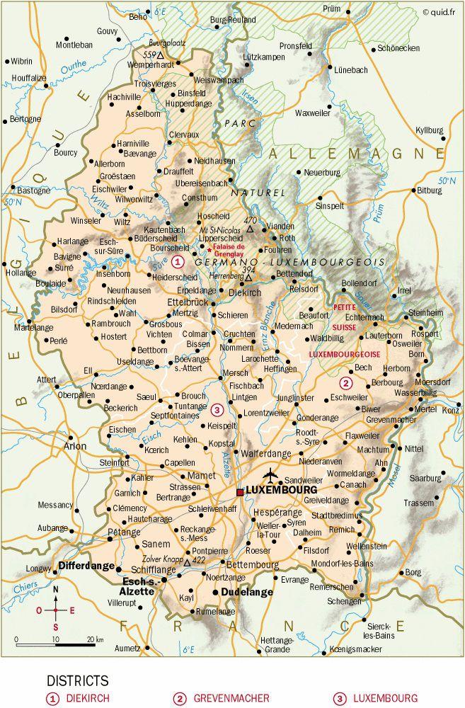 Carte Luxembourg - Politique