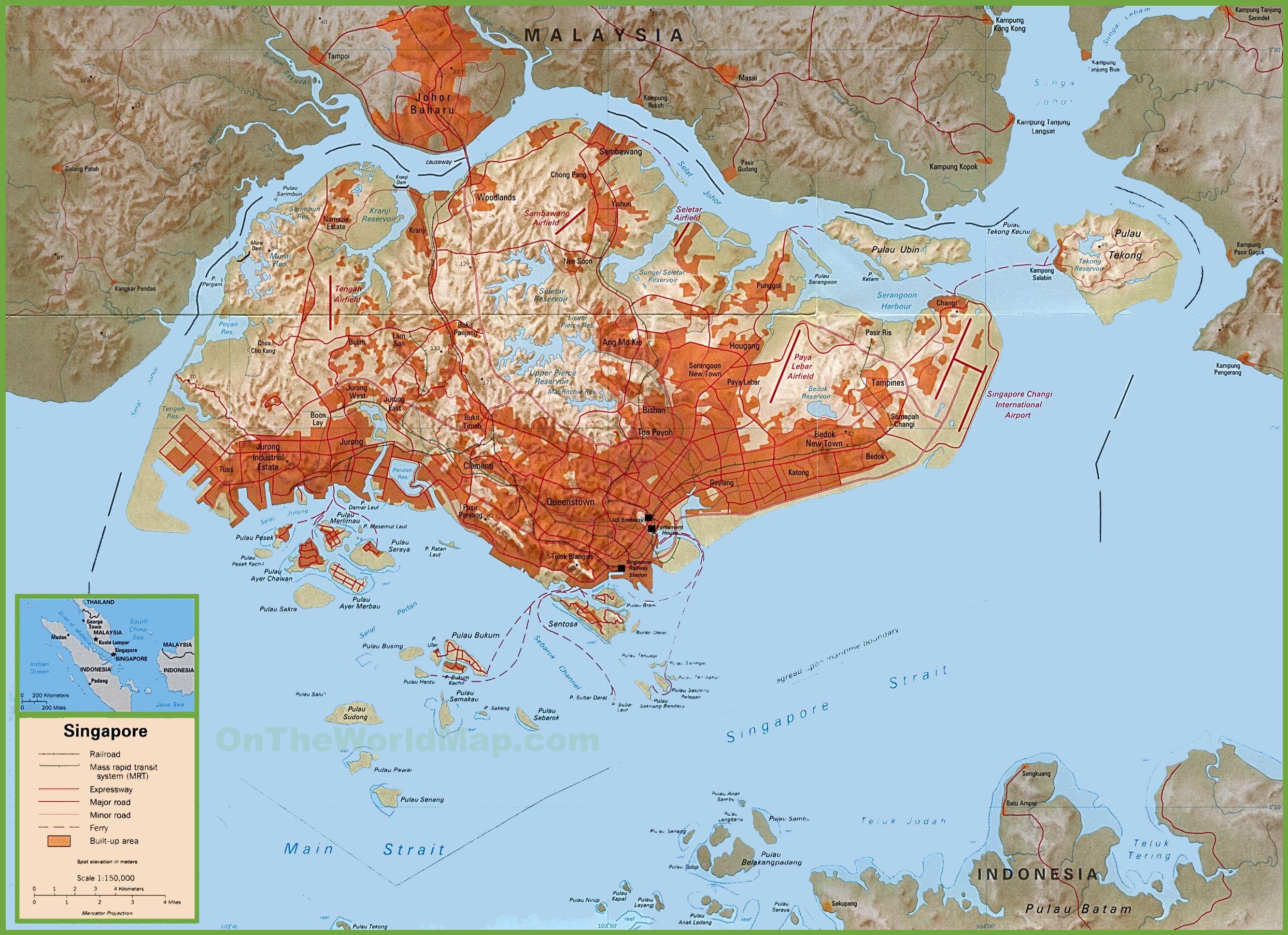 Carte politique de Singapour