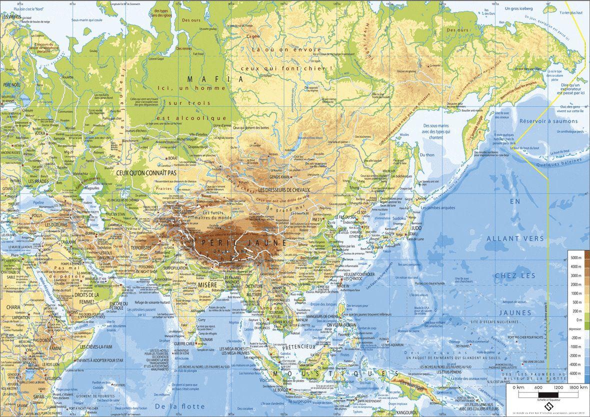 Carte Asie Relief Et Hydrographie.Carte Asie Relief My Blog