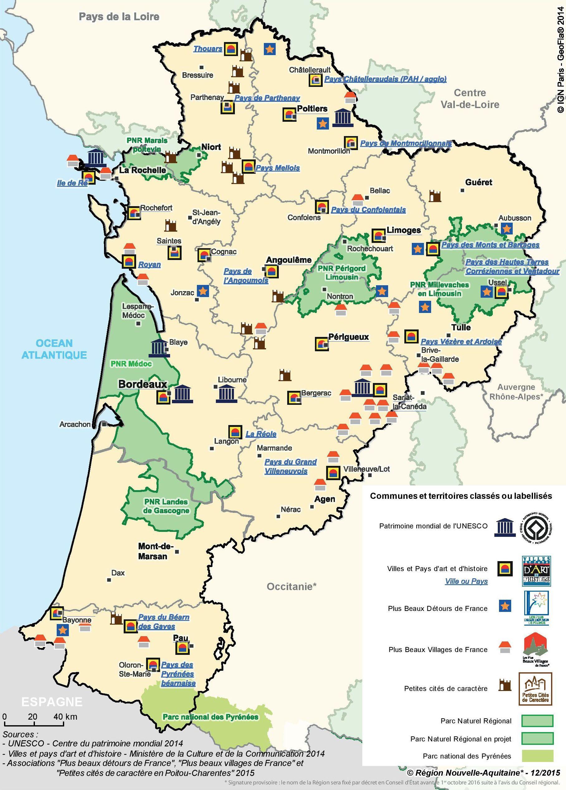 Aquitaine carte touristique electricdragoncafe for Site touristique france