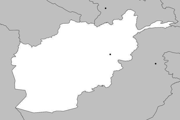 Carte vierge de l'Afghanistan