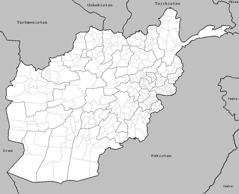 Carte Afghanistan vierge