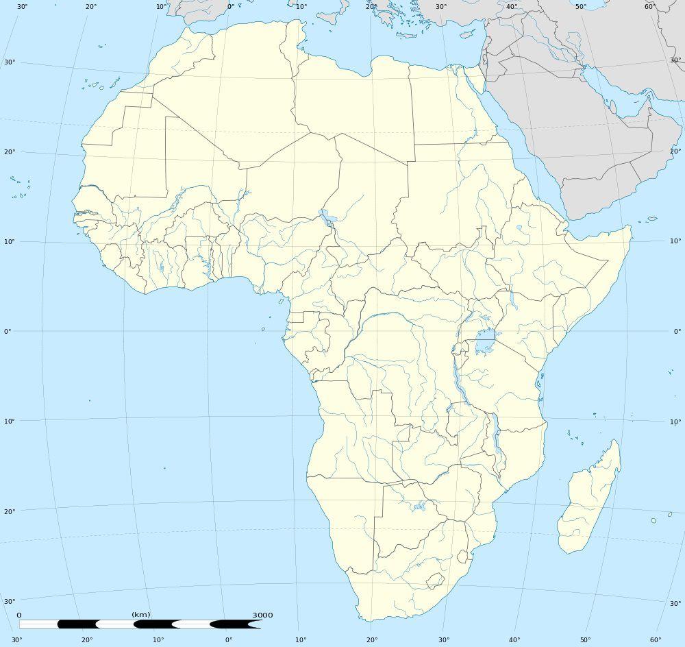 Carte vierge avec fleuve Afrique