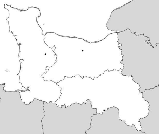Carte vierge de la Basse Normandie