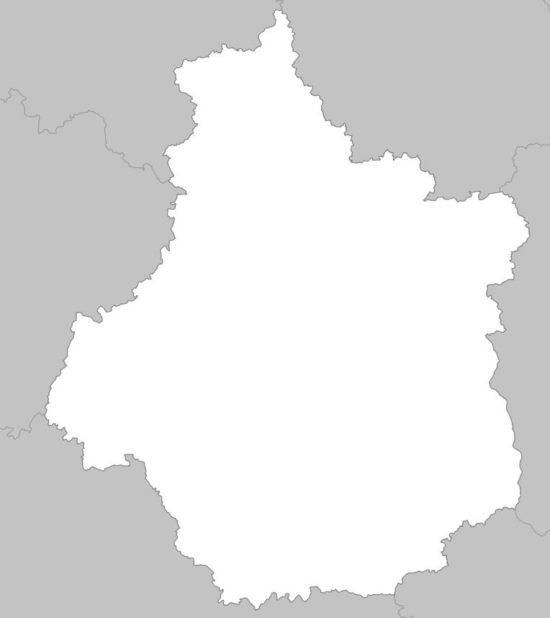 Carte vierge du Centre-Val de Loire