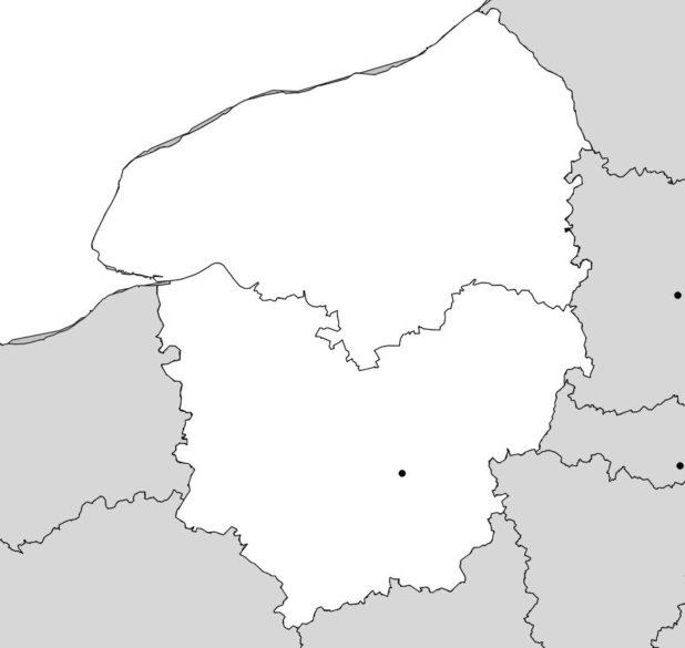 Carte vierge de la Haute Normandie
