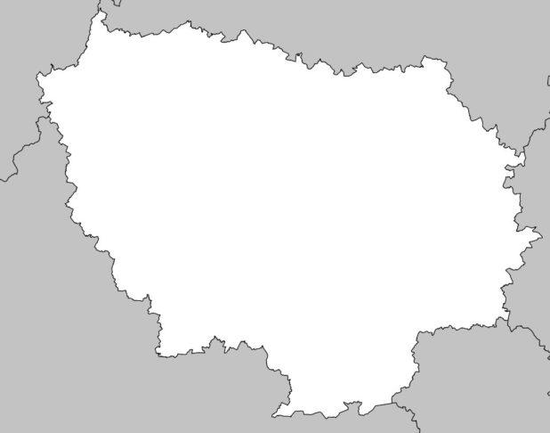 Carte vierge de l'Île de France
