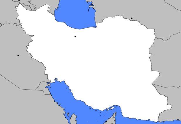 Carte vierge de l'Iran