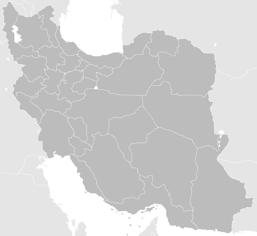 Carte de l'Iran vierge