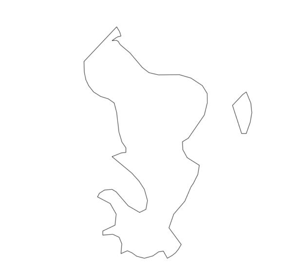 Carte vierge de Mayotte